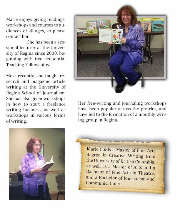 About Marie's workshops and readings