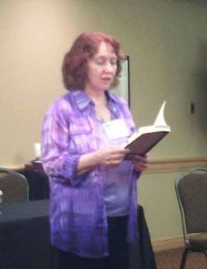 Marie reading from Hawk at When Words Collide 2015